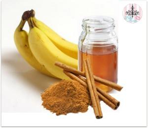قناع الموز والعسل والقرفة